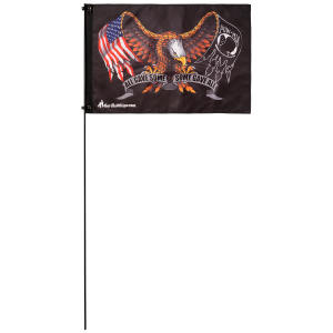 "Eagle All Gave Some POW 2' x 3' Safety Flag w/ Black Or White 3/8"" x 6' Whip"