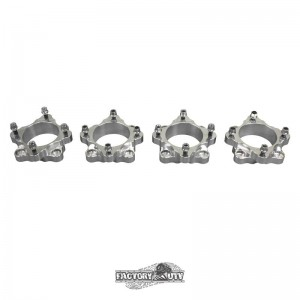 Four 2 Inch Machined Billet Aluminum Wheel Spacers (Choose Fitment)