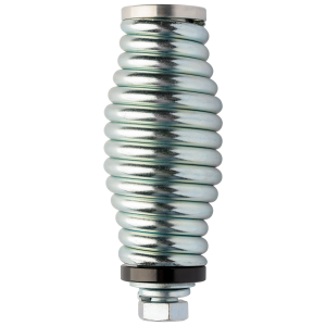 Heavy Duty LED Whip Spring Mount - Available In Silver/Black