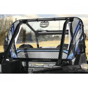 Over Armour Offroad Blue Rear Panel Window For Polaris RZRs