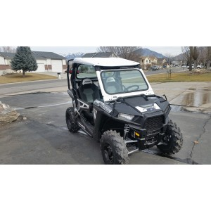 Polaris RZR 900 And 1000 Folding Vented Glass Windshield
