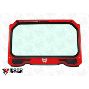 Polaris RZR XP 1000 and RZR 900 Full Glass Windshield With Vents Turbo Red