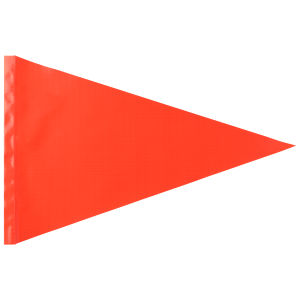 "Replacement Orange Safety Flag (fits 1/4"" and 5/16"" poles)"