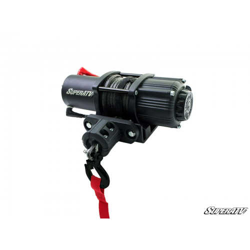 SuperATV 2500 LB UTV Winch With Wireless Remote And Synthetic Rope