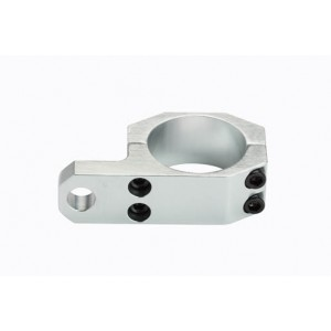 "Horizontal Bar Mount Whip Bracket 1 3/4"" - 1 7/8"" -Silver"